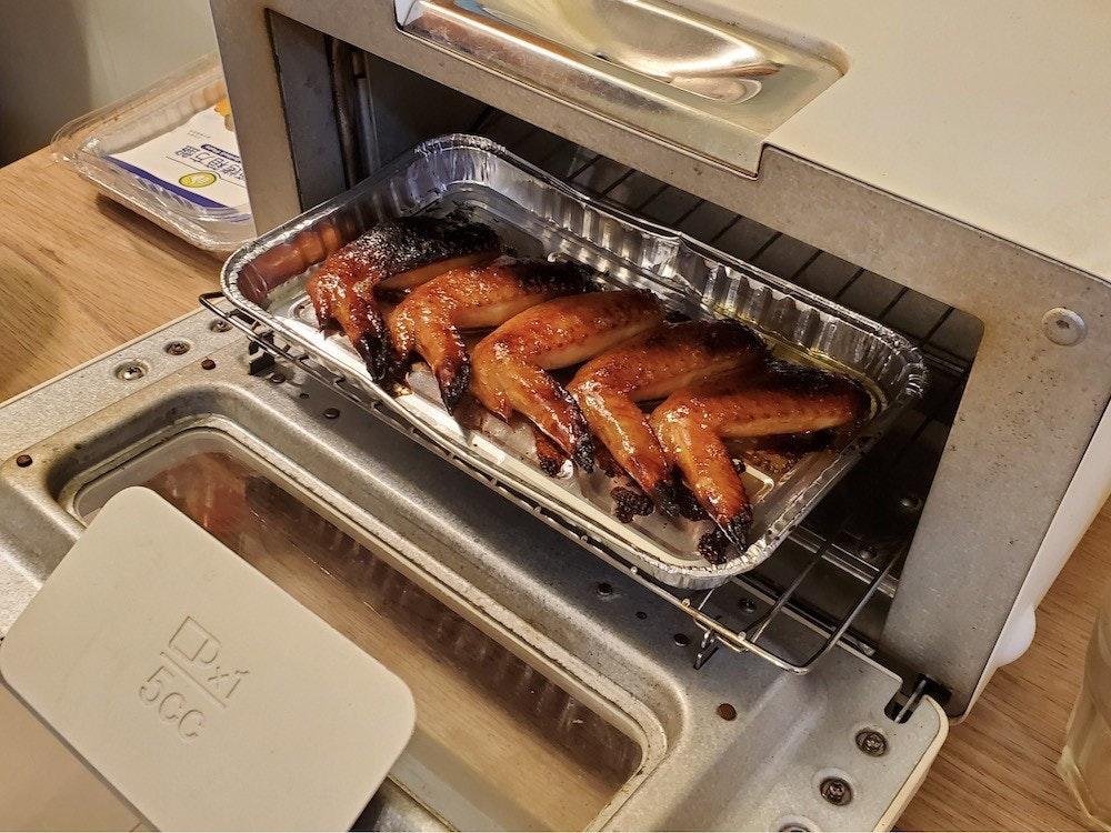 照片中提到了5cc,包含了肉、焙燒、廚房、家用電器、三井美食M
