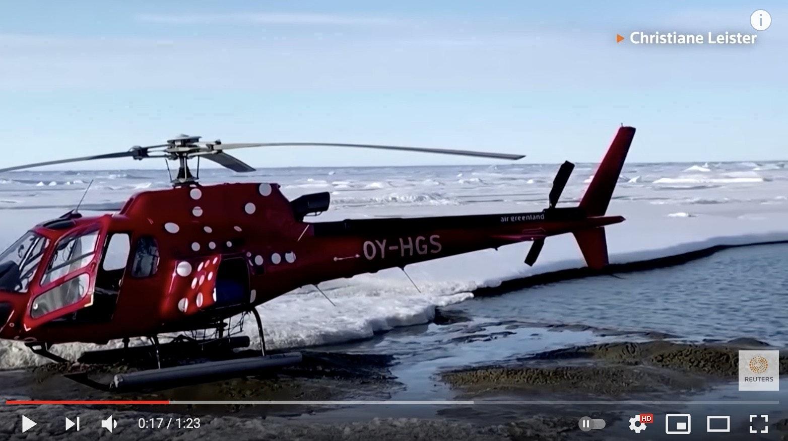 照片中提到了> Christiane Leister、air greenland、- OY-HGS,包含了科學家、格陵蘭、科學家、地球、陸地最北端