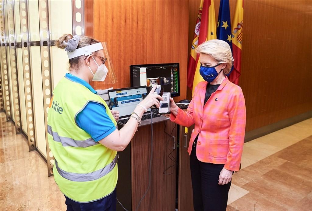 照片中提到了ritie、All,跟伊本白圖泰購物中心有關,包含了烏蘇拉·馮·德萊恩、歐洲聯盟、歐盟委員會主席、歐盟委員會、西班牙