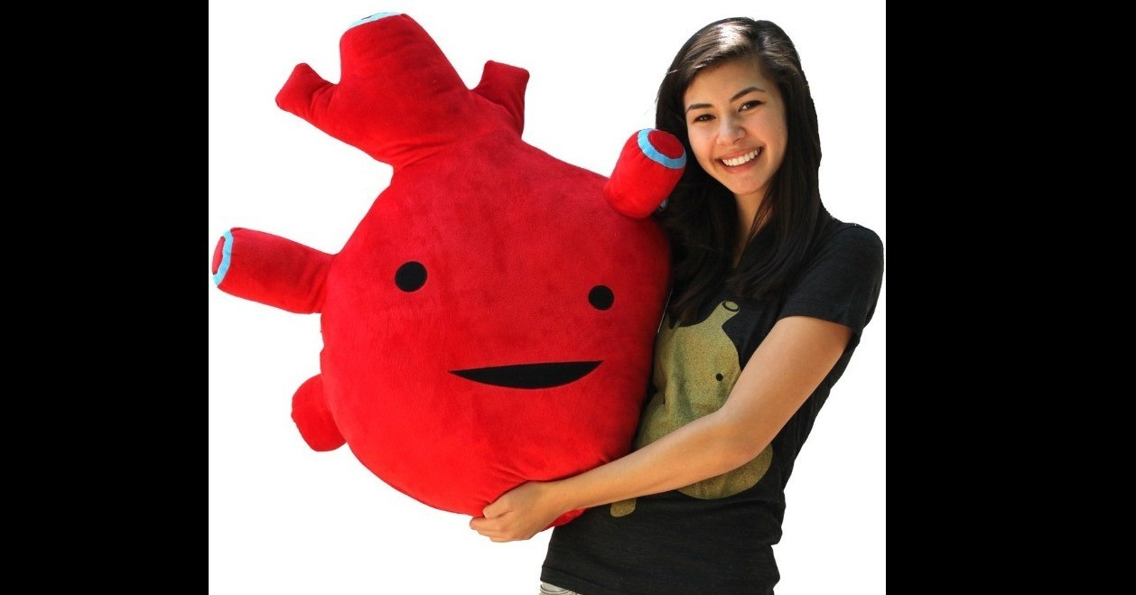Village Vanguard, , Mail order, Stuffed Animals & Cuddly Toys, , Colossal Kidney Plush, Business, Plush, Joint-stock company, , plush, red, plush, stuffed toy, textile, mascot, smile, material, toy