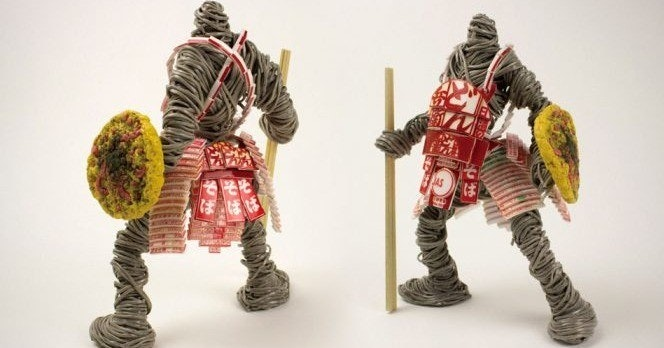Instant noodle, Ramen, Noodle, Noodle Warriors, Nissin Foods, Japanese noodles, Cup noodle, Food, Warrior, Cuisine, Instant noodle, figurine, toy, action figure