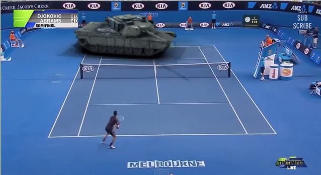 是M1艾布蘭戰車在退役閒暇之餘還可以當網球練習器…?這篇文章的首圖