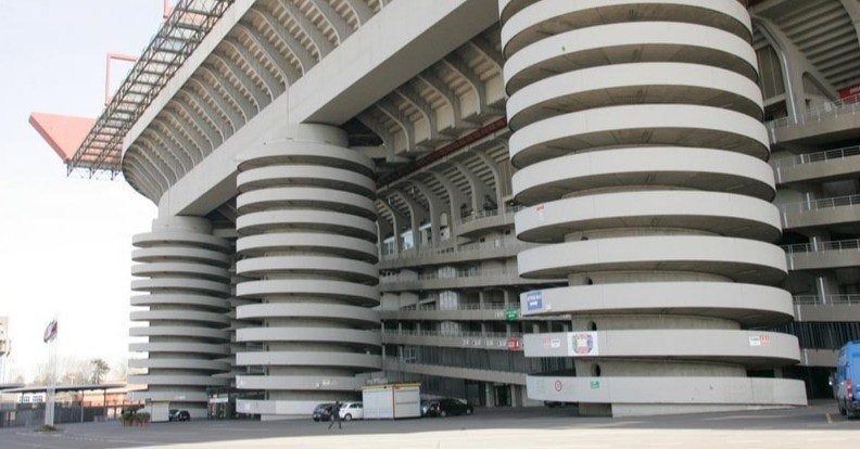 San Siro Stadium, Inter Milan, A.C. Milan, Stadium, Stadio San Nicola, , , Building, Tribune, Architecture, san siro, building, mixed use, architecture, condominium, commercial building, corporate headquarters, metropolitan area, metropolis, brutalist architecture, facade