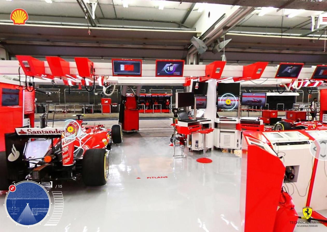 是想了解法拉利F1賽車後端的準備與作業嗎?與殼牌石油合作推出了線上虛擬實境這篇文章的首圖