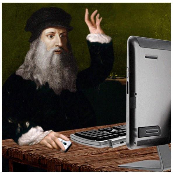 是當古典名畫加入了科技生活竟成了搞笑劇情…這篇文章的首圖