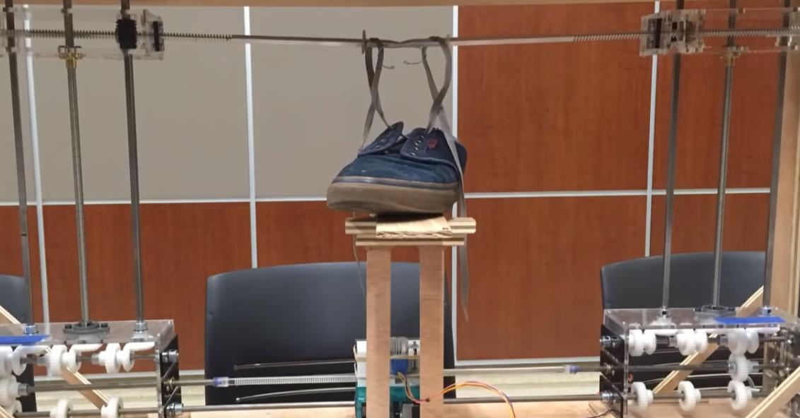 University of California, Davis, Shoelaces, Shoelace knot, Shoe, Necktie, , Robot, Engineering, Bow tie, Knot, Shoelaces, structure, sport venue, physical fitness
