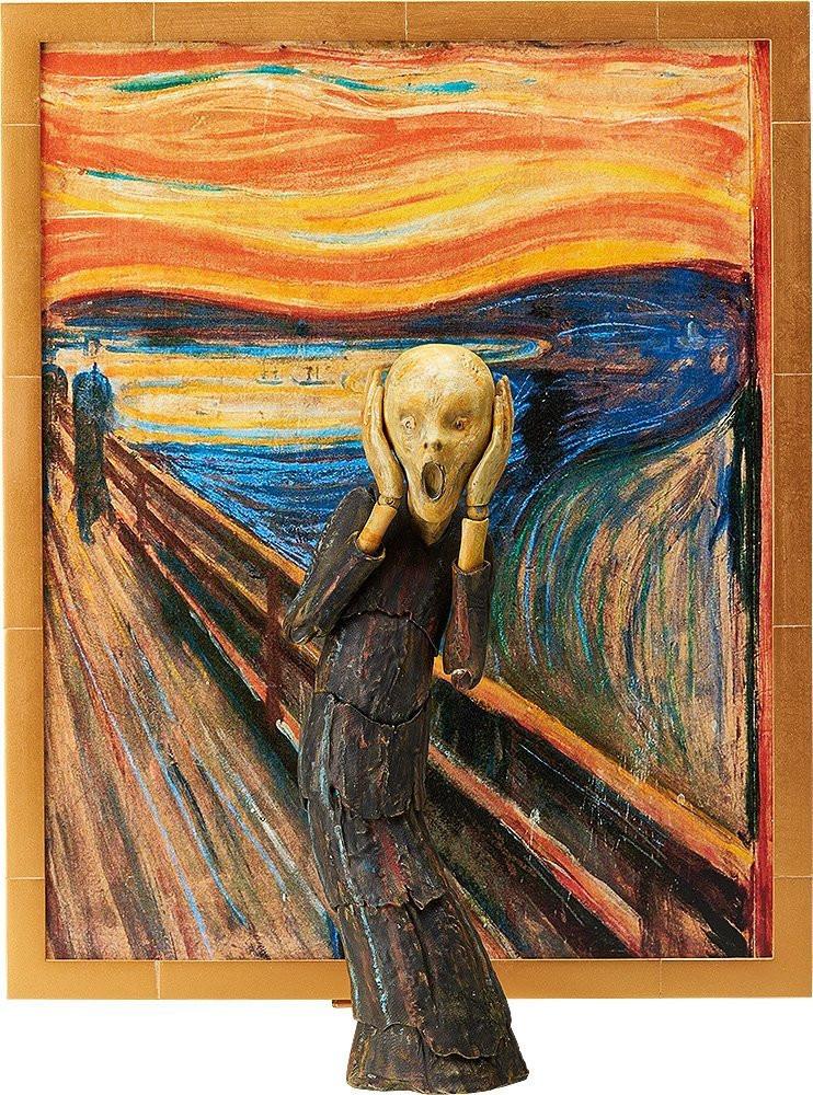 藍瘦香菇西方版-孟克的《吶喊》變成立體可動公仔畫作