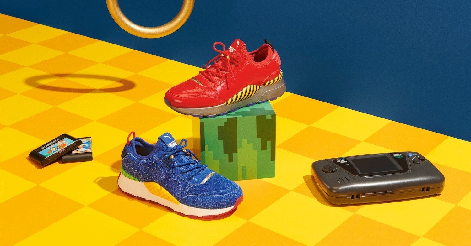 Sonic the Hedgehog, Doctor Eggman, , Sega, Video game, , Puma, Sneakers, PlayStation 4, , orange, footwear, yellow, product, shoe, orange, outdoor shoe, electric blue, product, brand, font