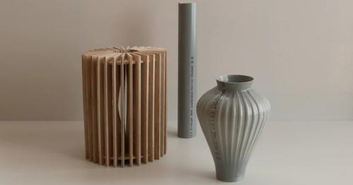 用水電師傅的塑膠水管製作阿娜多姿的花瓶