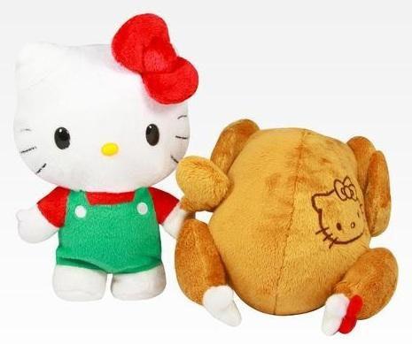 是可逆式雞貓合一感恩節Hello Kitty烤雞玩偶這篇文章的首圖