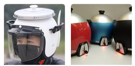 照片中包含了水壺、摩托車頭盔、電飯鍋、摩托車、KI