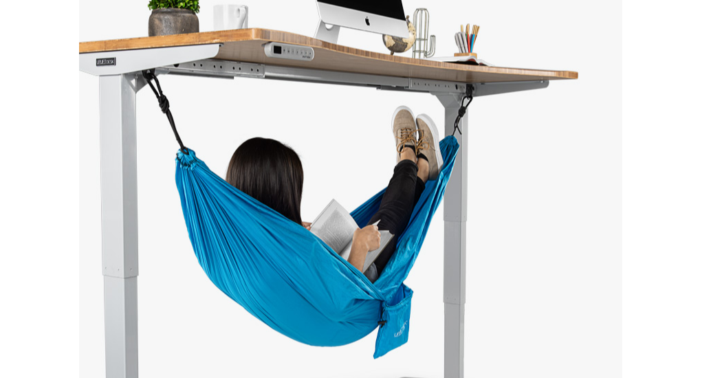 Fuut Put Your foot up on the hammock under the desk comfortable for Your foot, Hammock, Desk, UPLIFT Desk, Comfort, Nap, Office, Sleep, UPLIFT Desk V2 2-Leg Height Adjustable Standing Desk Frame with Advanced 1-Touch Digital Memory Keypad, Bedroom, Fuut Put Your foot up on the hammock under the desk comfortable for Your foot, Hammock, Desk, Product, Furniture, Table