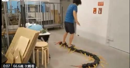 乘著蜈蚣的百足在地上横行的造型滑板