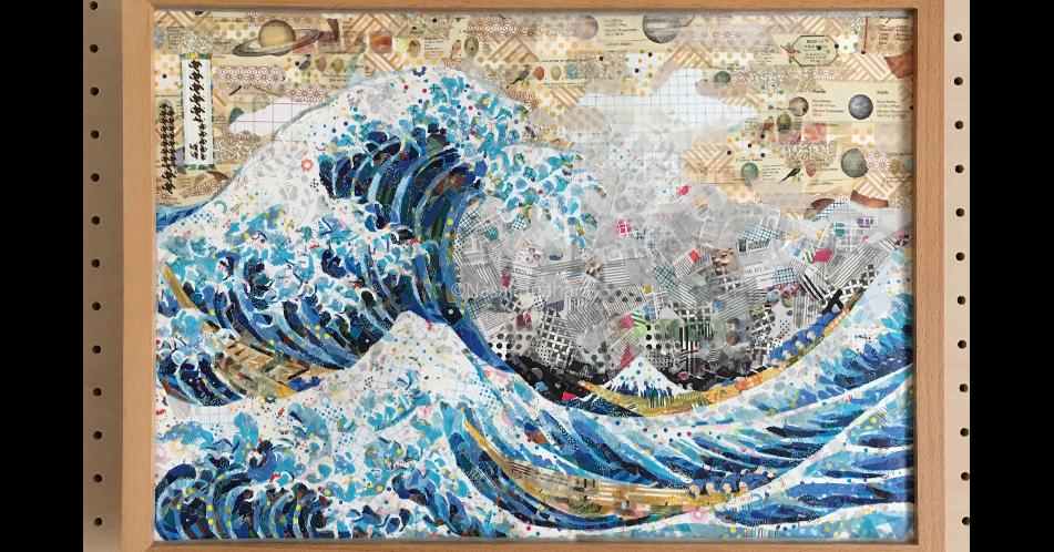 The Great Wave off Kanagawa, Japan, , Painting, Mural, Canvas, Ukiyo-e, Japanese art, Work of art, Art, great wave off kanagawa, Painting, Map, Art, Textile, Modern art, Tapestry, World