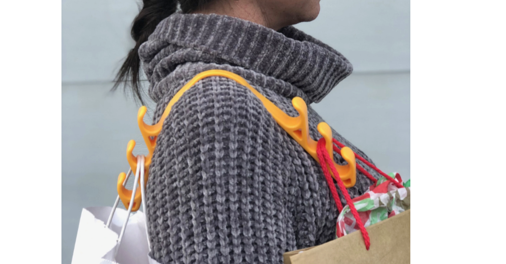Design, Pro-Idee, , Bag, Handbag, OnePlus 6T, Gadget, Shopping bag, , Design Milk, orange, Orange, Woolen, Wool, Yellow, Outerwear, Crochet, Knitting, Textile, Fashion accessory, Sweater