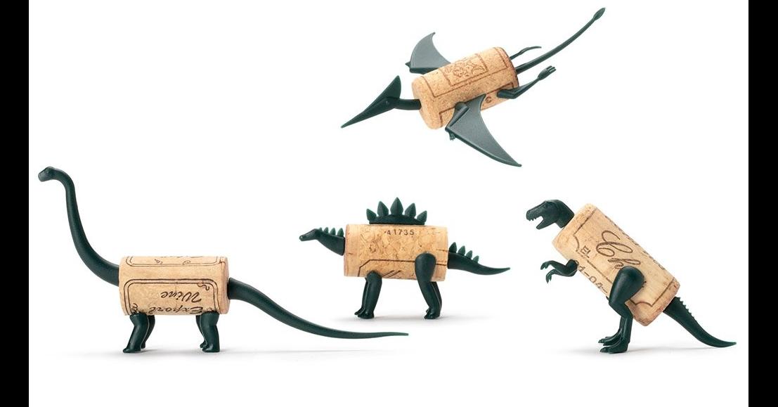 Red Wine, Wine, Dinosaur, , Cork, Party, Gift, Bottle, Food, , Dinosaur, Animal figure, Toy, Action figure, Figurine, Working animal, Bovine, Illustration