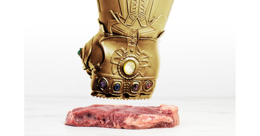 Meat Tenderisers, Steak, Meat, Cooking, Food, The Infinity Gauntlet, Kitchen, Meat thermometer, Sauce, Sous-vide, Meat tenderizer, Sculpture, Copper, Statue, Metal, Fictional character, Art, Brass, Carving