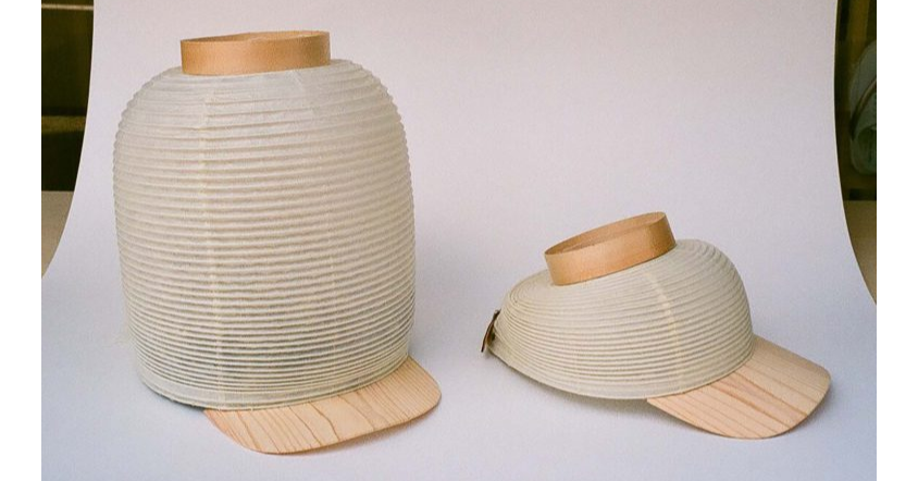 Paper lantern, Lantern, Cap, , Paper, Baseball cap, Chōchin, , Whole Love Kyoto / CHIMASKI studio, Hat, , Beige, Lampshade