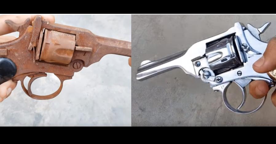 Revolver, Trigger, Firearm, Ranged weapon, Air gun, Gun, Product design, Weapon, Design, Product, revolver, Gun, Revolver, Firearm, Trigger, Wood, Metal