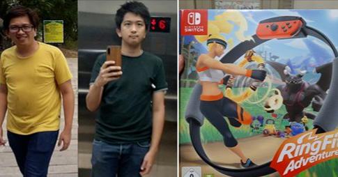 照片中提到了SWITCH、RingFi、Adventure,跟任天堂、紅羅賓有關,包含了開關健身環、任天堂Switch、戒指適合冒險、Wii Fit