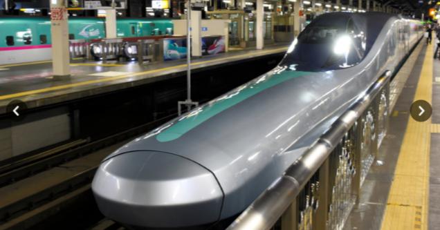照片中提到了>,包含了子彈頭列車、新幹線、培養、高速火車、盛岡站