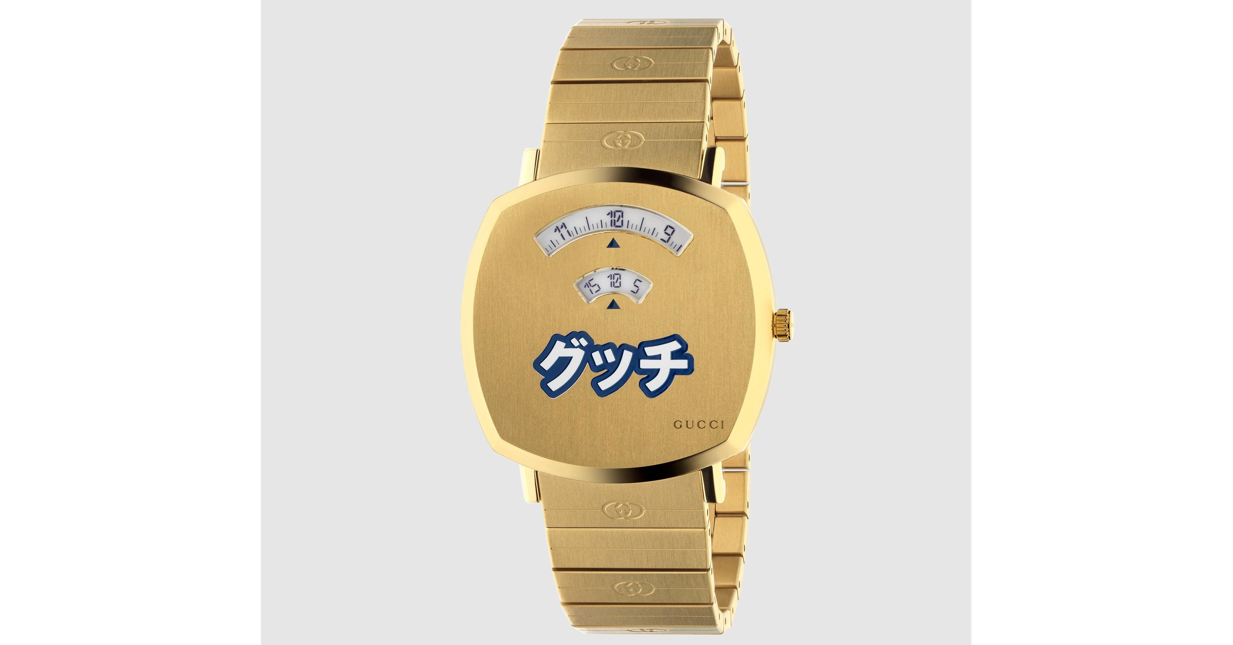 照片中提到了グッチ、GUCCI,包含了グッチ時計カタカナ、古馳(Gucci)、看、時鐘、手錶