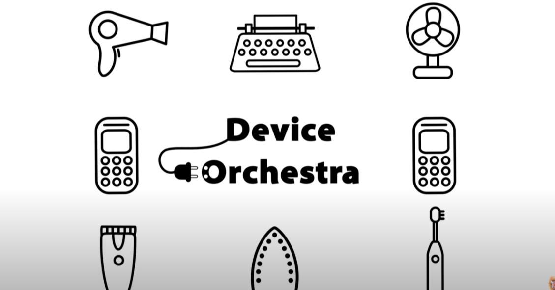 照片中提到了Device、tOrchestra、00,包含了設計、勇敢、產品設計、商標、線條藝術