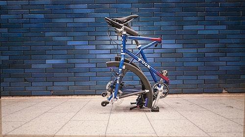 連輪子都可以折起來的折疊式自行車