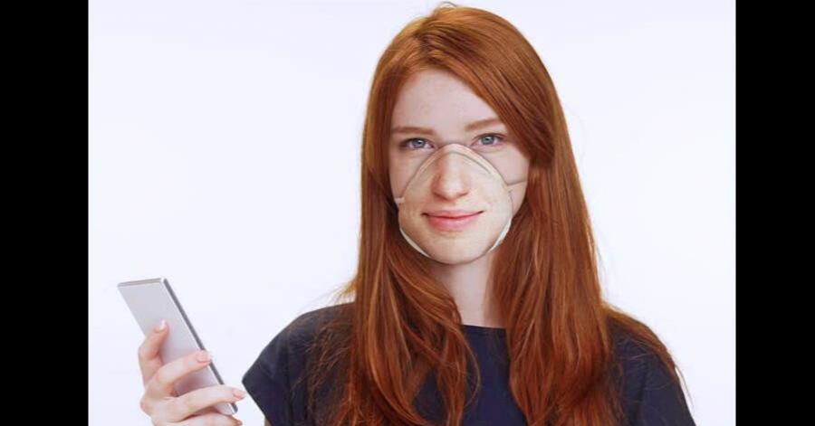 照片中包含了染髮、面具、人臉編號、面對、呼吸器