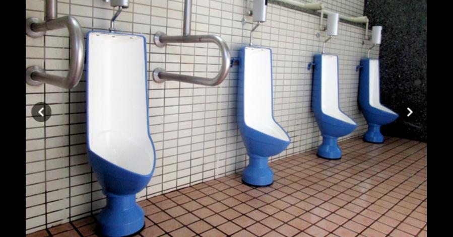 照片中包含了廁所、廁所、公共廁所、小便池、東京