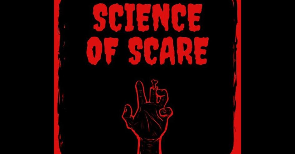 照片中提到了SCIENCE、OF SCARE,跟索格拉普有關,包含了海報、平面設計、海報、字形、字符
