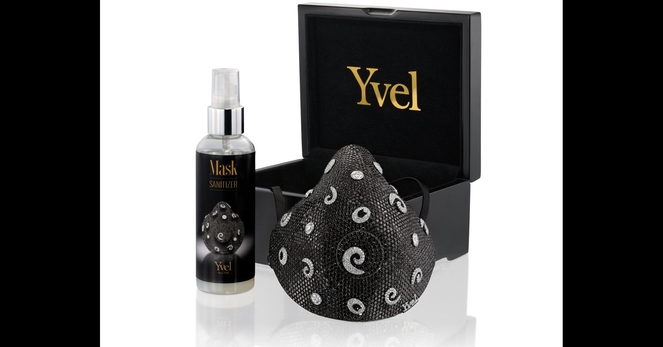 照片中提到了Yvel、Mask、SANITIZER,跟YVEL有關,包含了面具、面具、面具、時尚遇見面具、冠狀病毒病2019