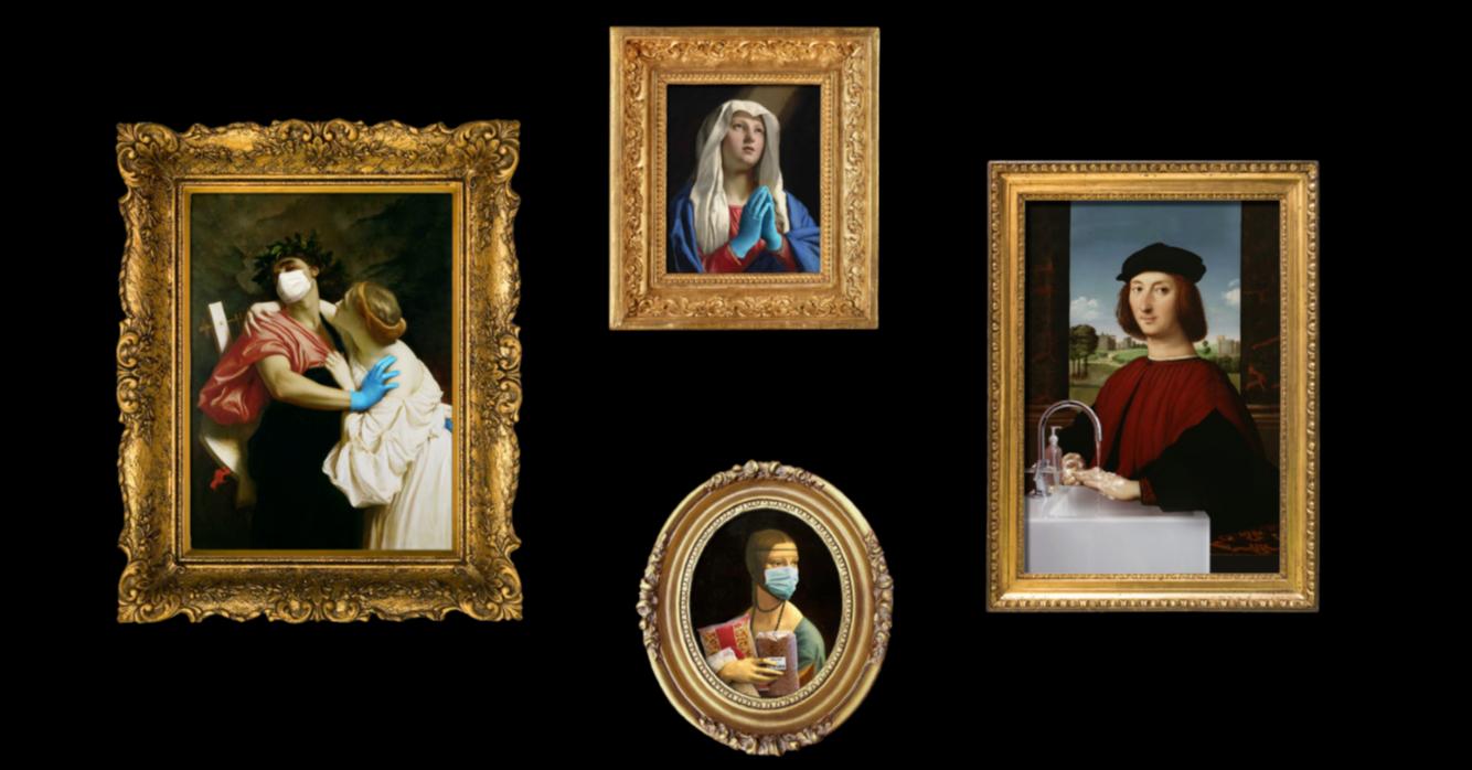 照片中包含了一個年輕人在紅色的肖像、藝術、藝術品、圖片、繪畫