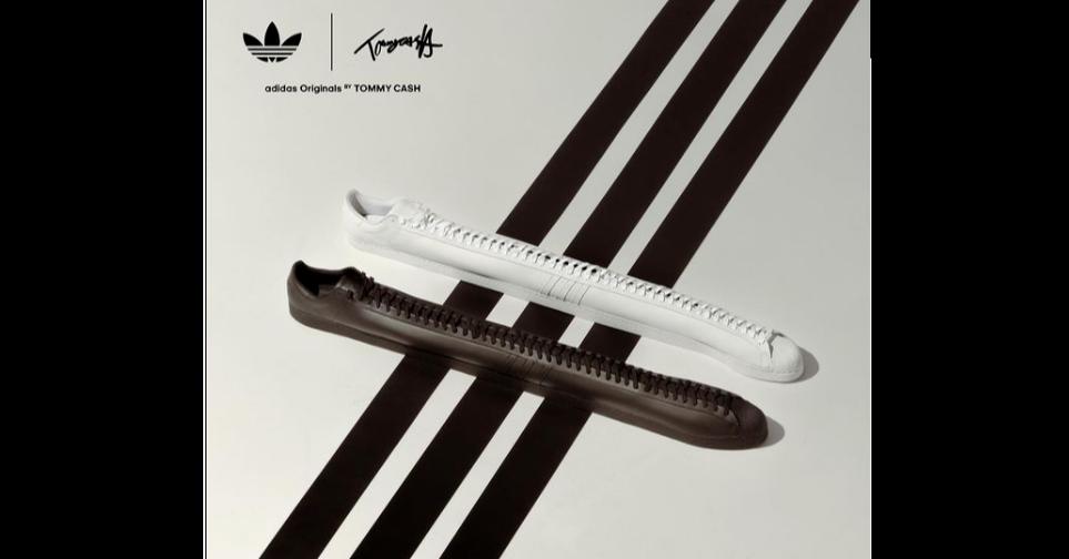 """照片中提到了adidas Originals """" TOMMY CASH,跟阿迪達斯、帕加尼有關,包含了самыедлинныекроссовки、阿迪達斯超級巨星、鞋子、球鞋"""