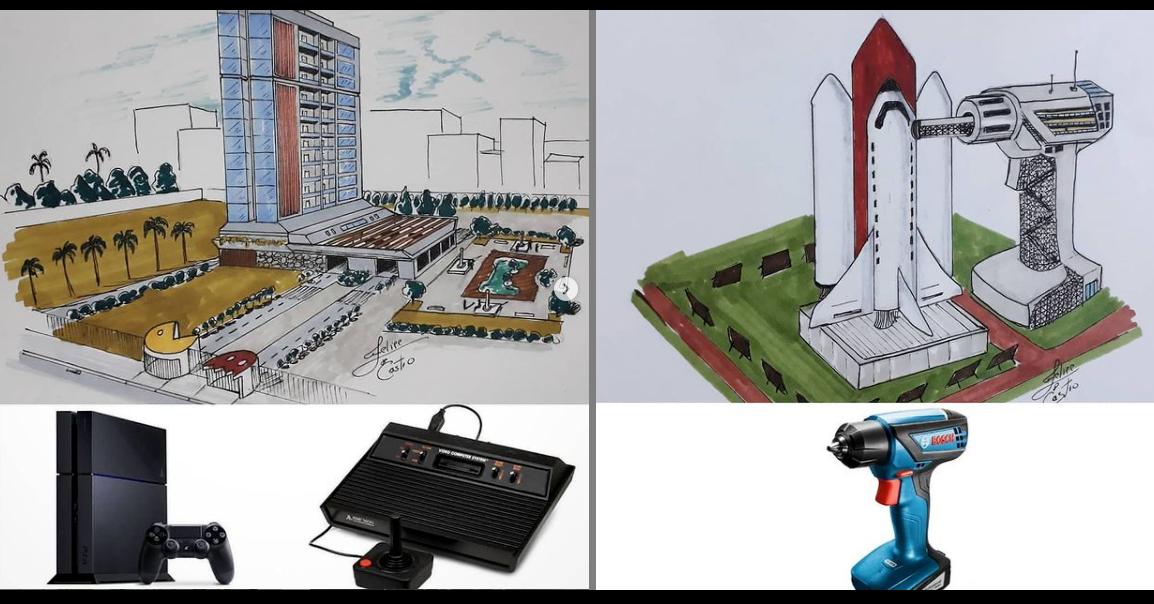 照片中包含了工程、建築、設計、產品設計、畫畫