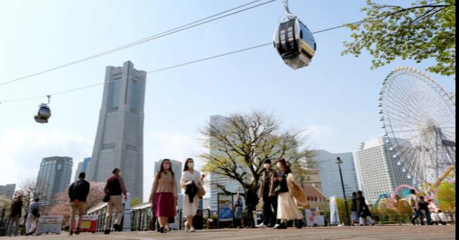 日本第一座穿過都市的纜車就在橫濱港未來21區