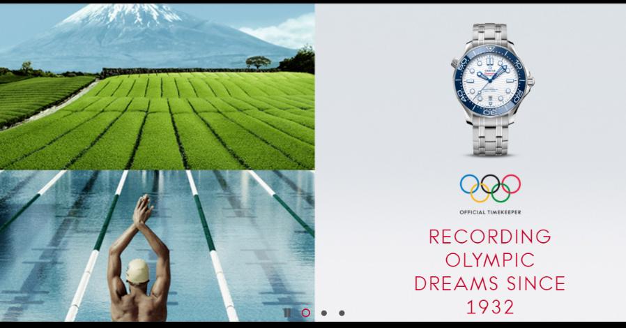照片中提到了OFFICIAL TIMEKEEPER、RECORDING、OLYMPIC,跟國際奧委會有關,包含了水資源、2020 年東京奧運會、2020年夏季奧運會開幕式、歐米茄、奧運會