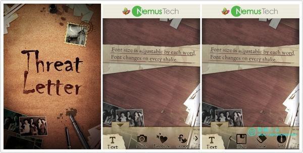 是[iOS]Threat Letter Lite 創意文字拼貼小工具這篇文章的首圖