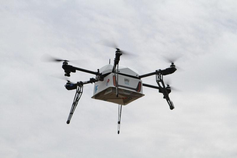 是達美樂開始用無人機遞送披薩 不過暫時僅限紐西蘭這篇文章的首圖