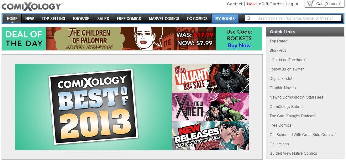 是想看電子漫畫?comiXology有60億頁讓你看個夠!這篇文章的首圖