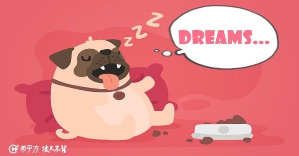 Pug, Puppy, Dog breed, Dream, Daydream, Sleepwalking, Puppy love, Nightmare, Toy dog, , pug, Pug, Cartoon, Dog, Canidae, Snout, Dog breed, Fawn, Carnivore, Toy dog, Illustration