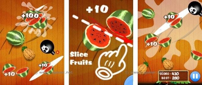 是手機直玩HTML5遊戲介紹-忍者切水果這篇文章的首圖