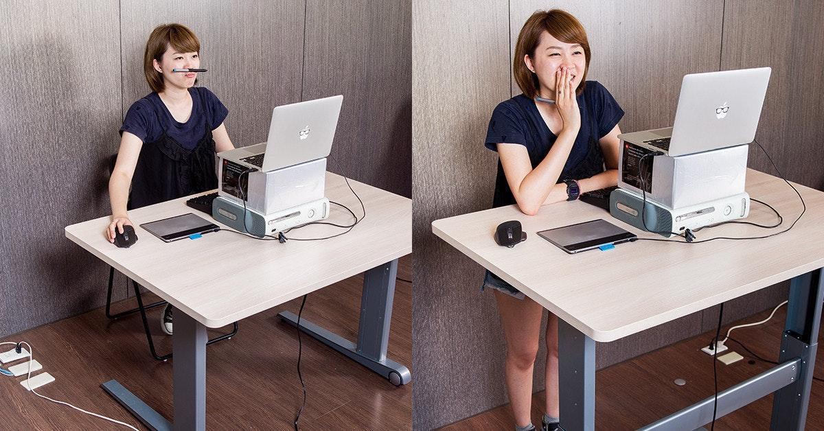 是免打「空八空空」!有腰酸背痛問題,先用 Flexiwork 升降桌解決「久坐不站」健康殺手!這篇文章的首圖