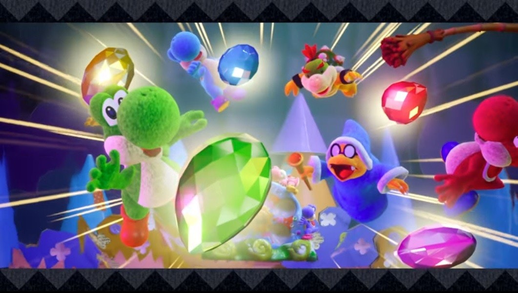 Yoshi's Crafted World, Kirby's Epic Yarn, Yoshi, Nintendo Switch, Yoshi's Woolly World, Electronic Entertainment Expo 2017, Nintendo, , Video Games, Platform game, yoshi's crafted world, Technology, Games, Adventure game, Graphic design, Screenshot, Fictional character