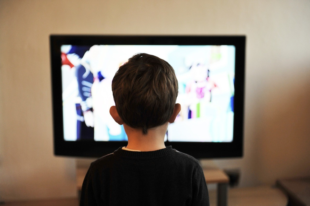 Television, Child, Television advertisement, Screen time, Television show, Television film, Film, , Family, PBS Kids, kid sitting infront of tv, electronic device, technology, television, display device, design, media, multimedia, computer monitor, gadget