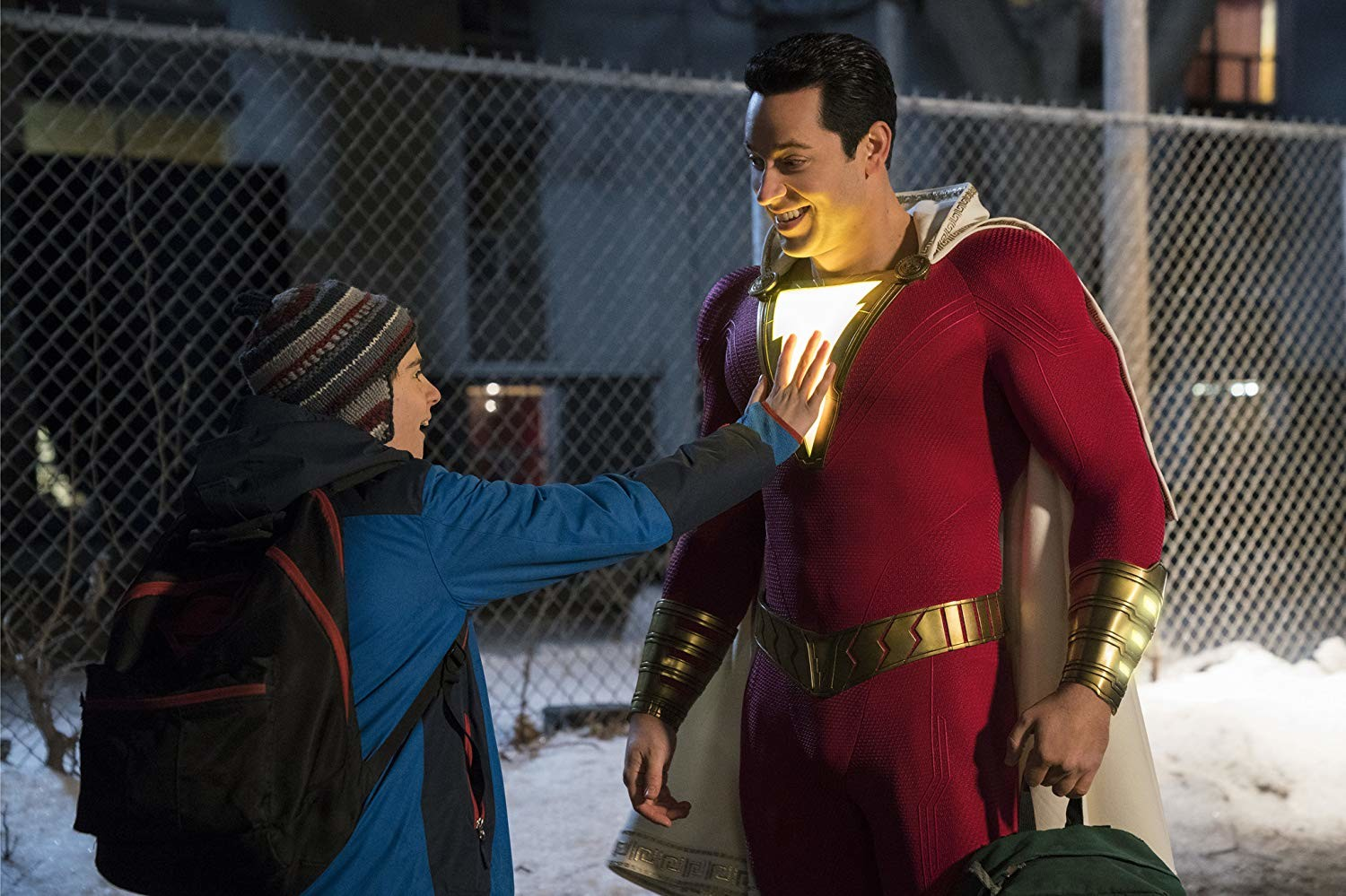 SHAZAM!, Captain Marvel, Zachary Levi, Superman, , Film, DC Comics, Superhero movie, , Warner Bros., shazam jack dylan grazer, Superhero, Fictional character, Superman, Justice league, Scene