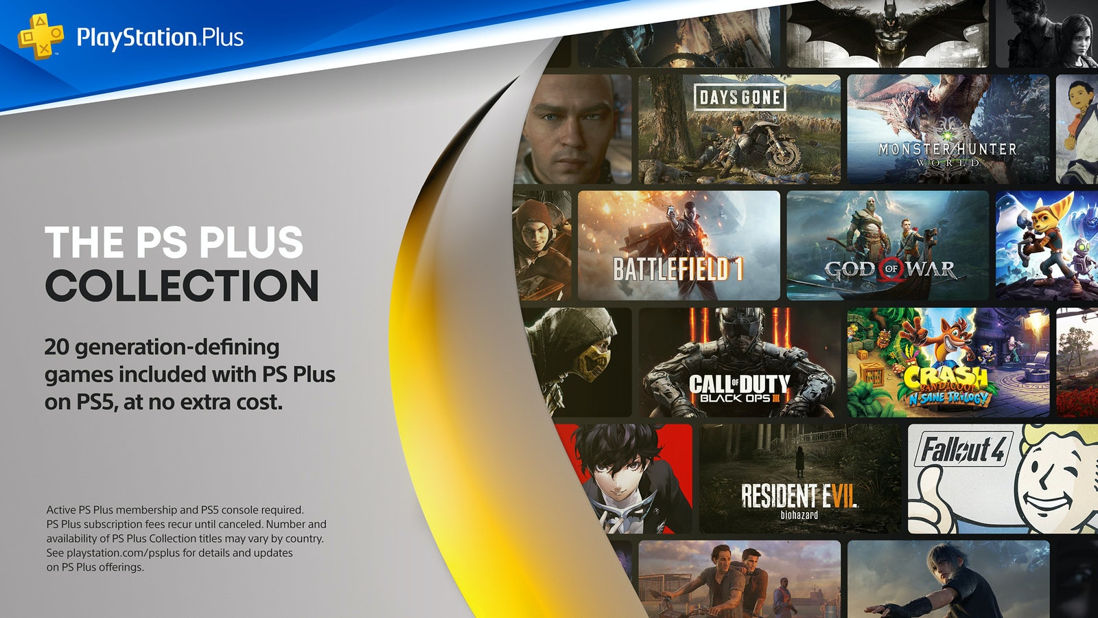 照片中提到了PlayStation.Plus、DAYS GONE、MONSTER HUNTER,跟的PlayStation、動視暴雪有關,包含了PlayStation Plus、的PlayStation 5、的PlayStation 4、PlayStation Plus、索尼互動娛樂