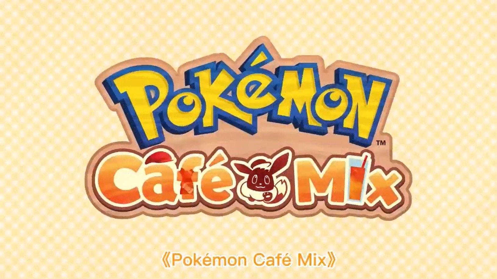 照片中提到了TM、CafeMix、(Pokémon Café Mix),跟任天堂有關,包含了寵物小精靈首頁ios、神奇寶貝Ultra Sun和Ultra Moon、神奇寶貝睡眠、神奇寶貝公司、的iOS