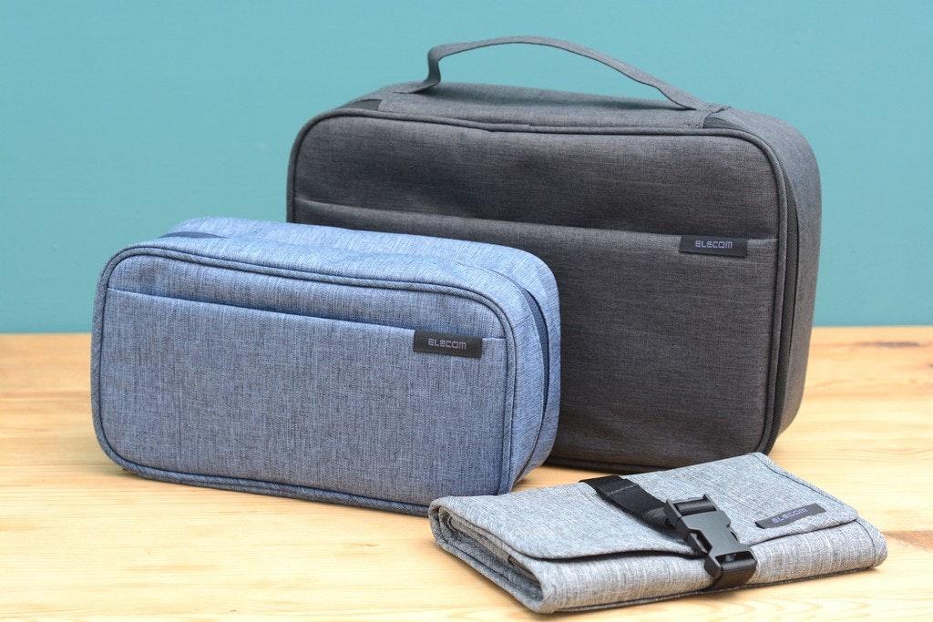 照片中提到了ELECOM、EL ECOM,包含了手提包、手提包、手提行李、產品設計、產品