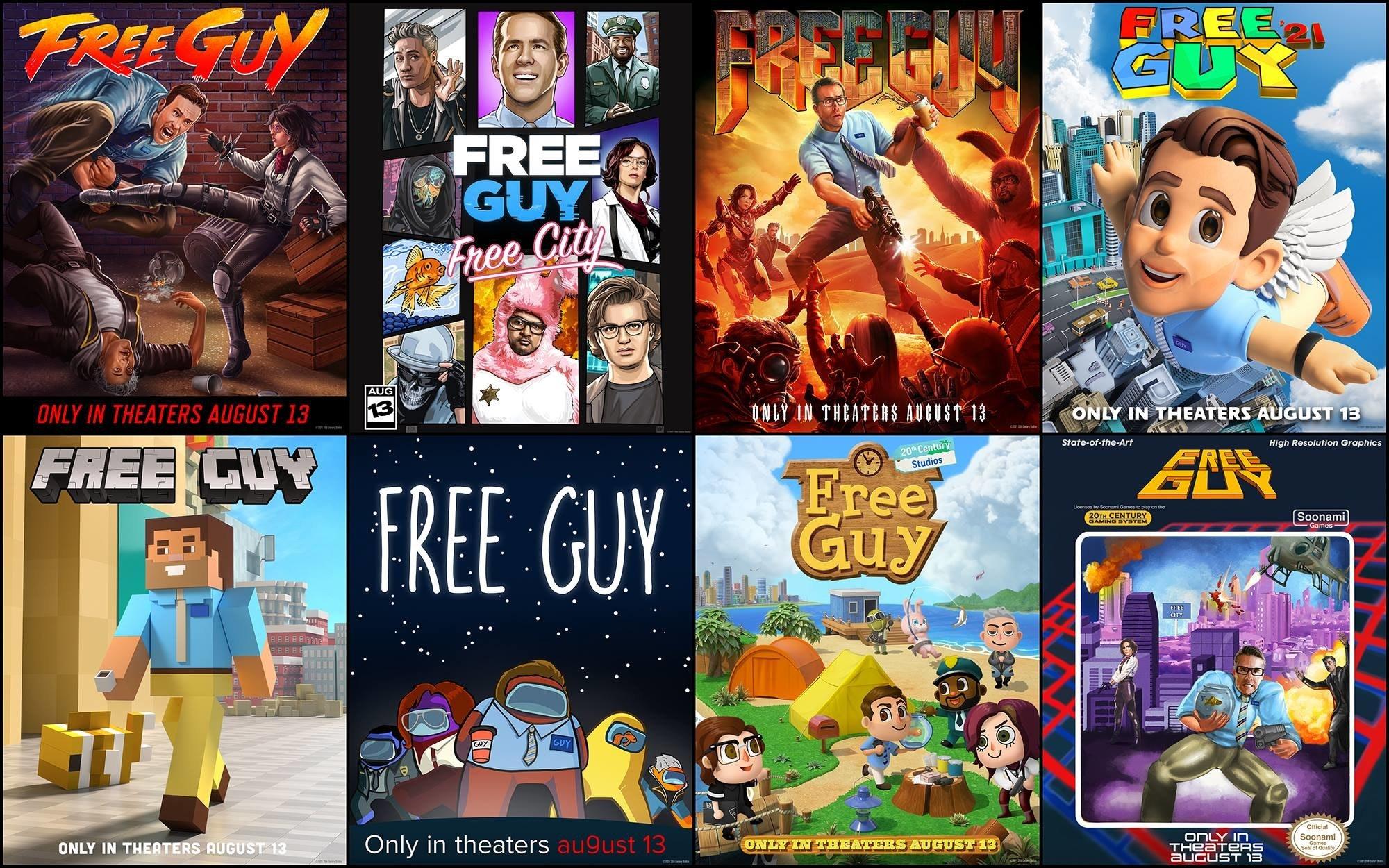照片中提到了FREE GIN、FREE、GUY,跟GU、GU有關,包含了電腦遊戲、大學、蒙太奇、漫畫、牆紙